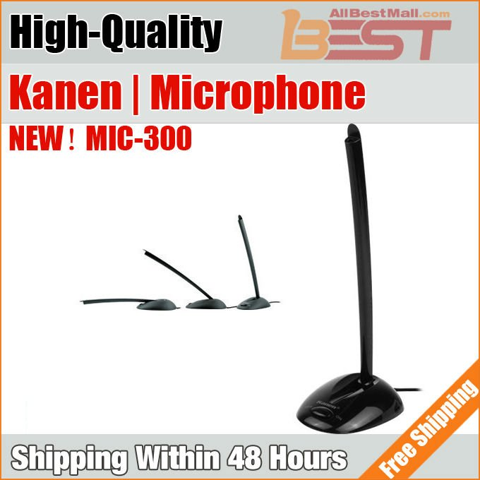 Free Shipping, Kanen mic-300 computer desktop Microphone,Gooseneck Microphone,Multi-media Vertical microphone for internet chat