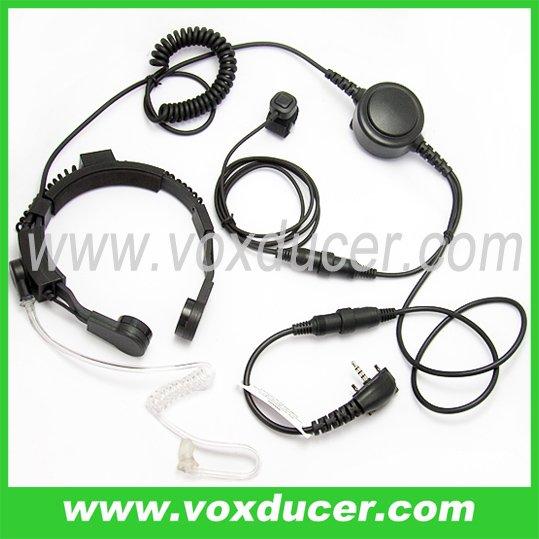 For Yaesu Vertex VX-420 airsoft throat mic headset