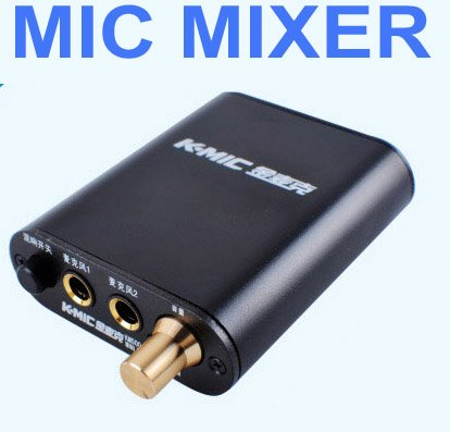 BLACK Microphone MIC Mixer Pre-amp Amplifier amp for PC chat record music KTV