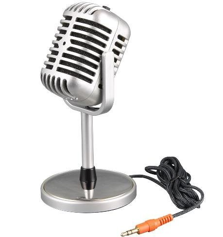 Free Shipping 1pcs/lot Microphone Stereo Laptop, Retro Classic New Computer Microphone, Microphone Personalized Retail Wholesale