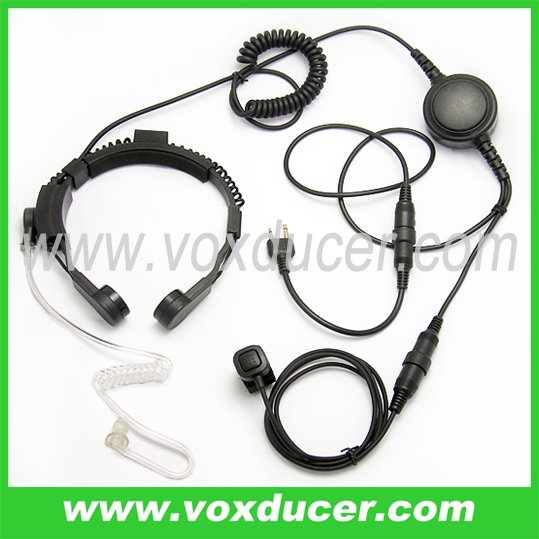 For Vertex two way radio VX-510 VX-520UD airsoft throat mic headset