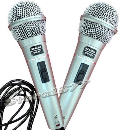 2X Pro Wired Dynamic Vocal Microphone Karaoke Mic DM401 Brand new and free shipping