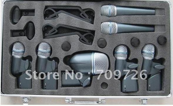 Free shipping  New Boxed BETADMK7-XLR  BETA DMK7 Drum Microphone Kit 7DRUM Mics