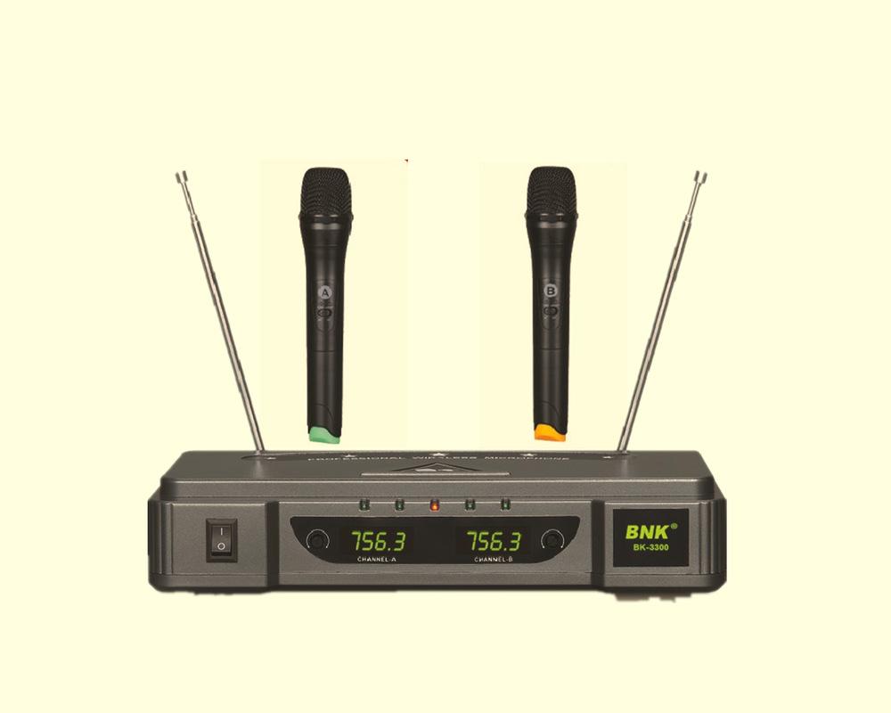 2 channels UHF wireless microphone bk-3300