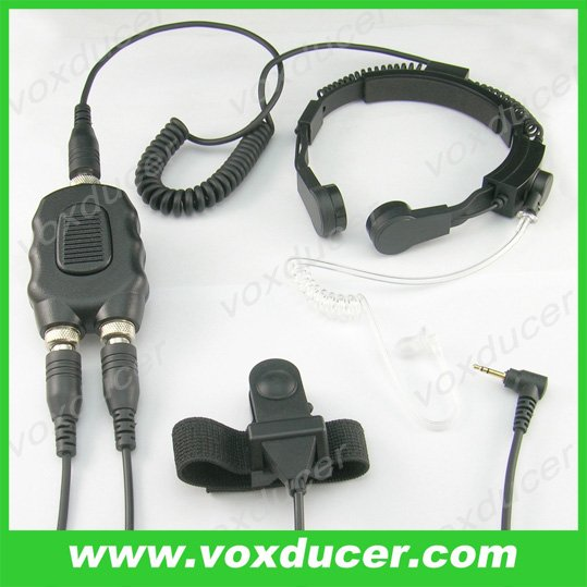 Special forces throat vibration microphone for Motorola Talkabout amateur radio T7200 T5620
