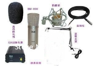 MIKE retro microphone Condenser microphone Outrigger classic Karaoke microphone set /language chat /