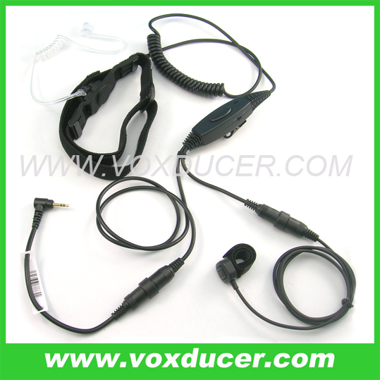 Changeable Airsoft throat vibration microphone for Motorola Talkabout ham radio T5512 T5720
