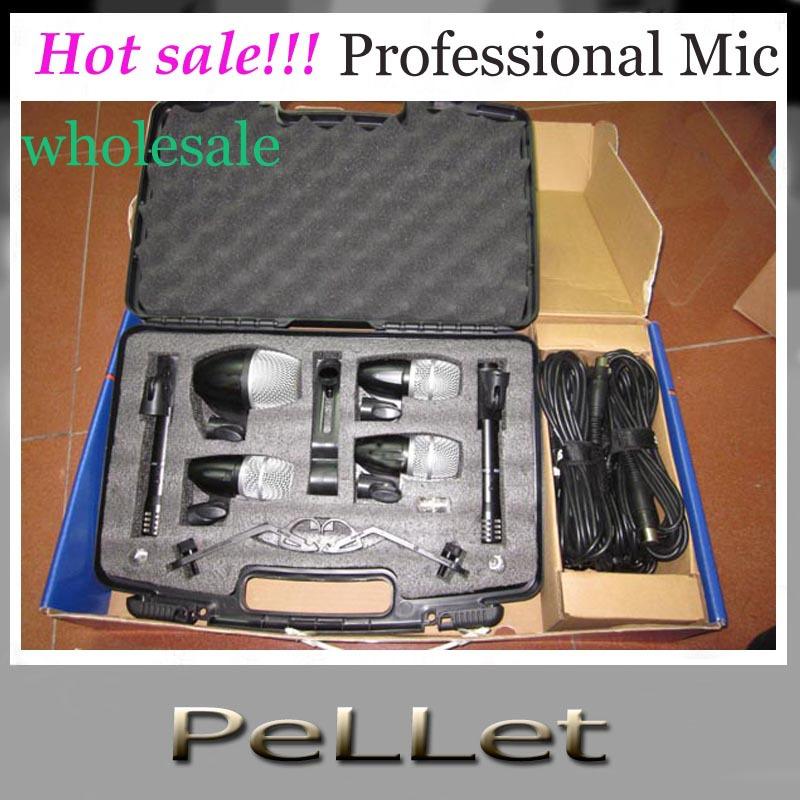 Hot sale!!! High quality New packaging PGDMK6 Drum instrument mic Set PG52 PG56 PG81 Liujiantao Drum Microphone wholesale dy DHL