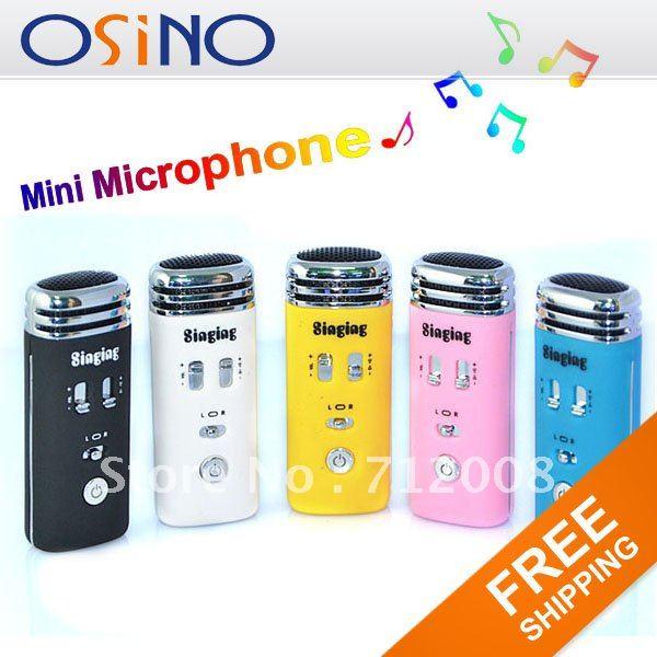$18.99 Cheapest Mini Karaoke Singing Microphone KTV Player Mic Earphone for Cellphone mp3 mp4 PC wholesale
