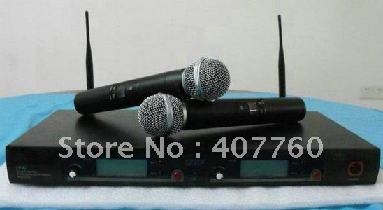 Free shipping UR8D Dual Channel handheld  System Wireless Microphone
