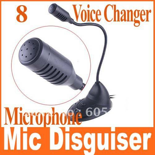USB 8 Multi Voice Changer Microphone Mic Disguiser Space-saving,Free Shipping+Drop Shipping
