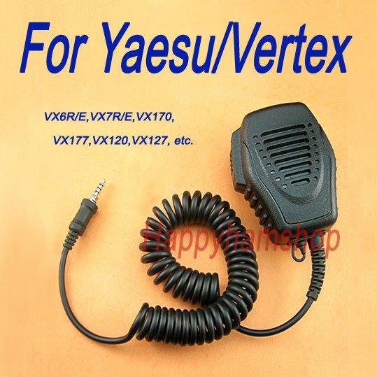 With listen only earpiece jack High Quality speaker mic for Yaesu VX-410, VX-420 interphone