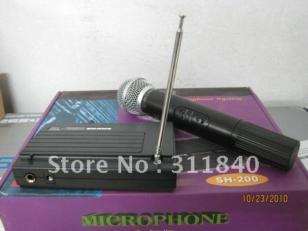 Free shipping In stock  VHF SH-200 wireless microphoness microphone system