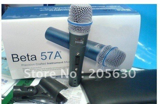 Hot selling 5pcs  New arrival! Free shipping  Beta57A   Cardioid Dynamic MIC Wire Microphone