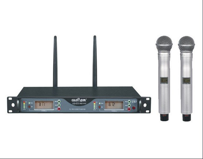 Wholesale uhf gold Braun wireless microphones high-quality professional audio systems of GM-870 KTV microphone free shipping