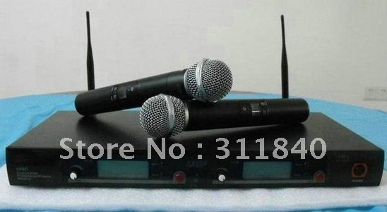 Free shipping UR8D wireless Dual Channel handheld microphone