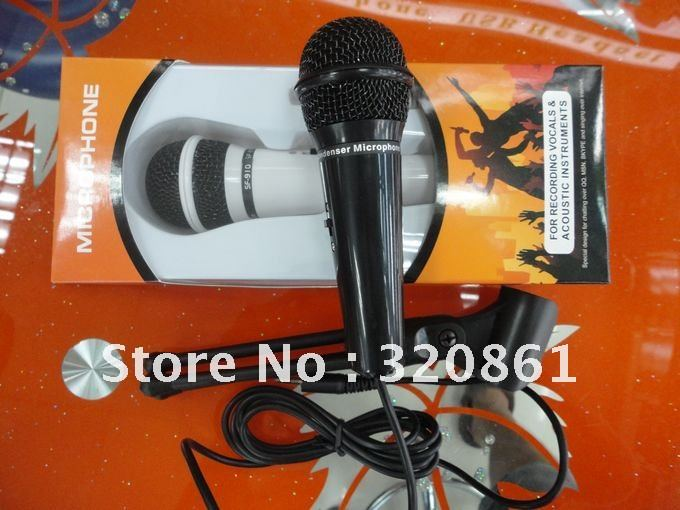 Hot!! High quality handheld micphone boxed wired MIC for party KTV  Meeting Online chat  Computer Mic & 1pc Free shipping