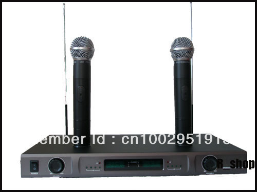 PRO DUAL RECHARGEABLE WIRELESS MICROPHONE MIC SYSTEM