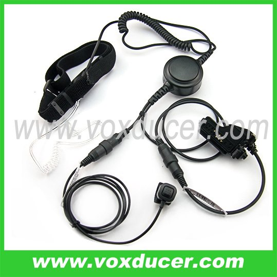 Detachable throat vibration microphone for EF Johnson wireless radio 5100 5700 series 511X 512X 518X