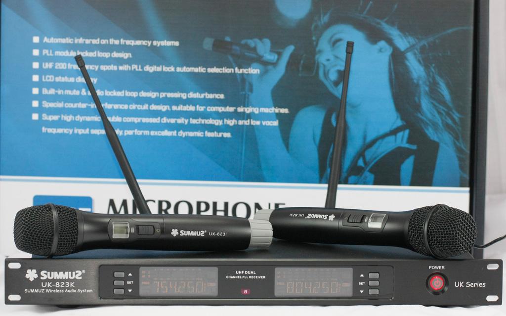 Summuz uk823k professional infrared wireless microphone uhf wireless