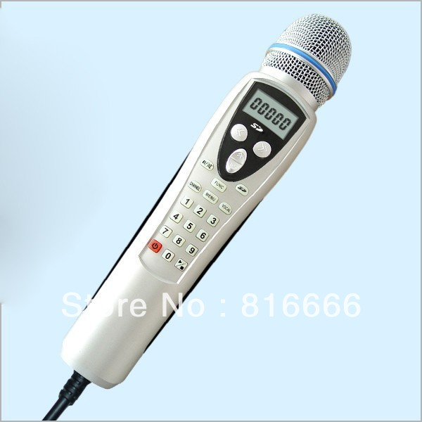 Portable SD Karaoke System Player Magic Microphone Sing 2PC 2GB SD card+MTV songs