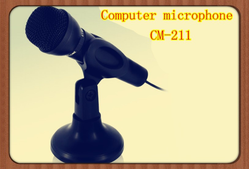 free shipment computer microphones/recording microphone wired multimedia