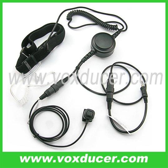 Throat vibration microphone with Mini-din for Yaesu Vertex radio VX127 HX471 VX460