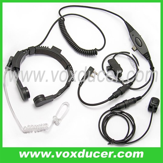 Detachable Military Throat Microphone for Kenwood Two way radio TK-208 220 240 240D