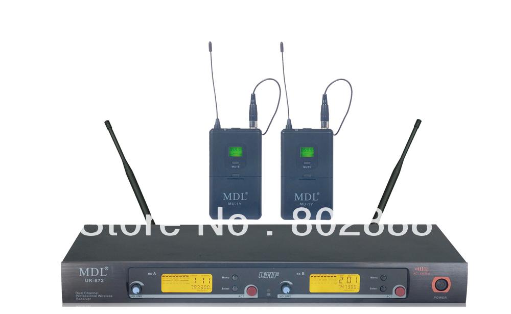 Pro UHF 200 Channel Headset Head Wireless Mic Microphone System Bodypck Transmitter For Church Schoolroom Karaoke
