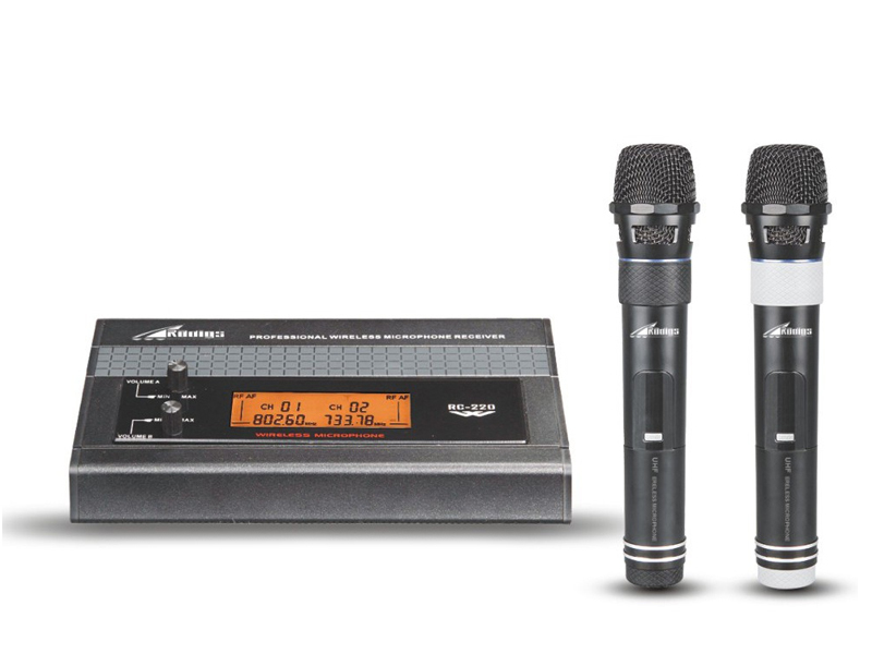 RC-220 UHF Dual Channel Wireless Microphone