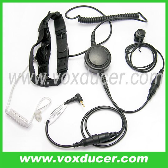 Mini-din throat microphone with clear tube for Talkalbout two way radio T270 T280 T289 T4800