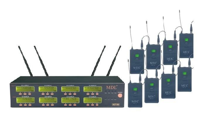 8x100 Channel UHF LED Headset Wireless Microphone System Bodypack Transmitte