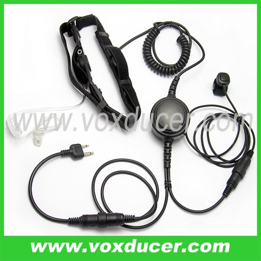 Transparent tube detachable throat microphone for Maxon wireless radio SL25 SL55 SP120 SP130 SP140