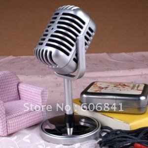 Free shipping 50pcs/lot Brand new Nostalgic Classic Computer Microphone Ancient Network Microphone