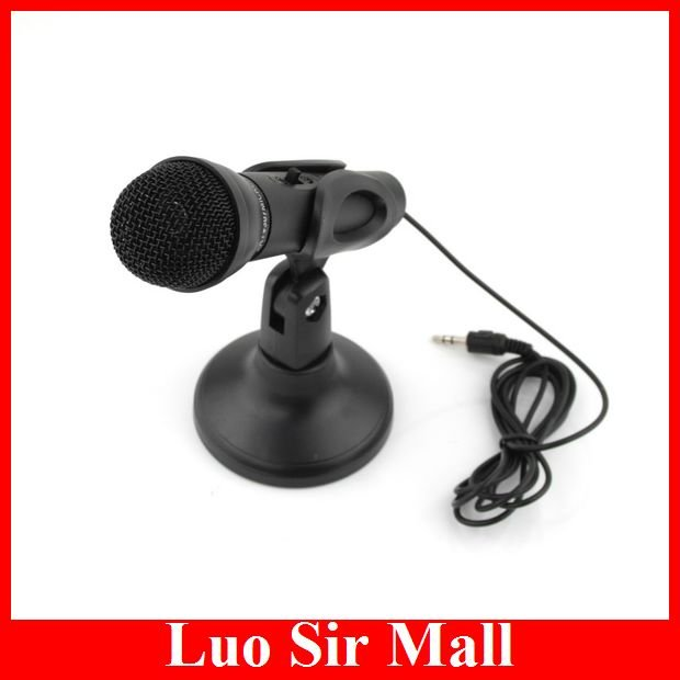 [Top Selling]Multimedia Flexible 3.5mm Mini Desktop Microphone Megaphone For PC Laptop+5pcs/lot+Free Shipping