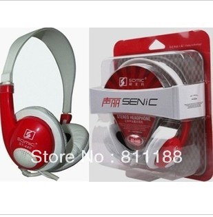 Somic sound Lai ST-440 red classic headset computer headset with microphone