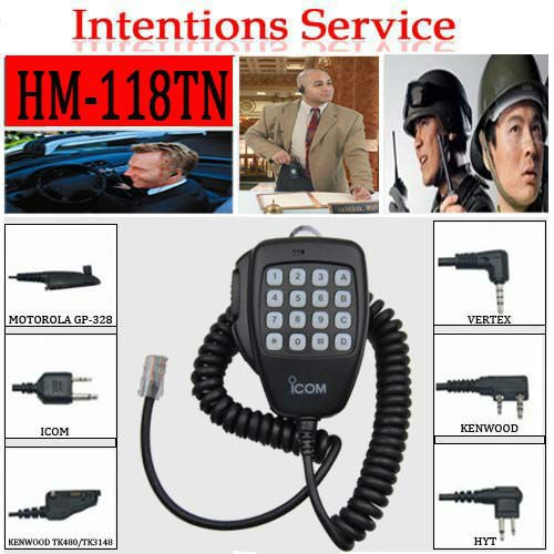 Factory price car radio microphone (HM-118TN)