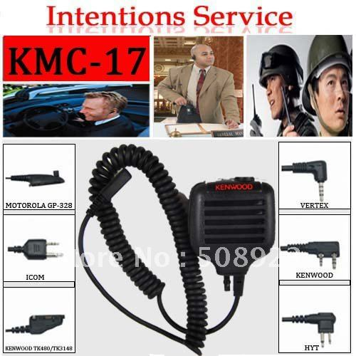 Christmas Promotions+Free shipping KMC-17 DTMF wired microphone for two way radio