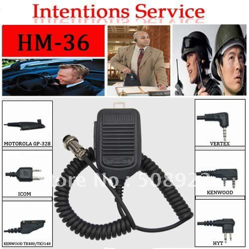 Free shipping cheap ICOM mobile car radio microphone in hand HM-36