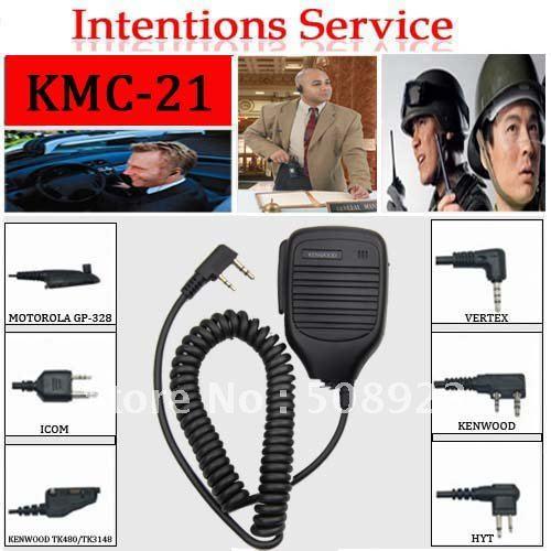 Long lifer handheld walkie talkie speaker mic KMC-21