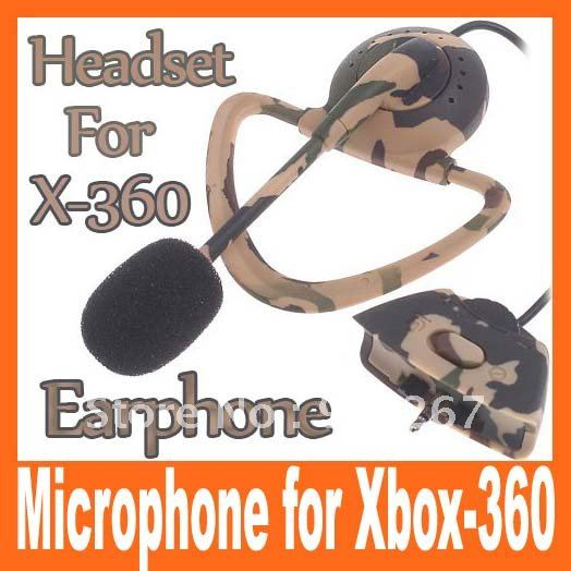 Mic Headset Headphone Microphone for Xbox 360,Free shipping