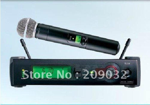SLX24 BETA58 U-band wireless microphone with L-shaped brackets