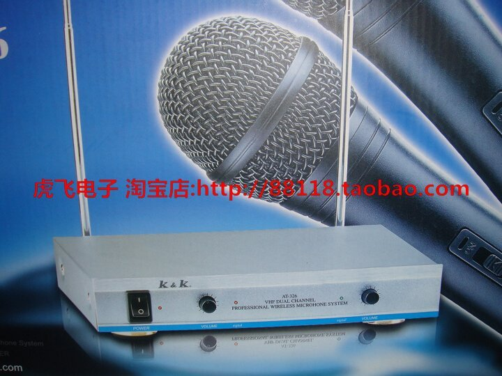 KK AT-326 Professional Wireless Microphone System dual microphone Free shipping
