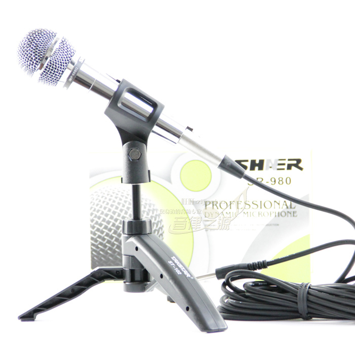 Shner sr-980 pure metal microphone ktv computer microphone