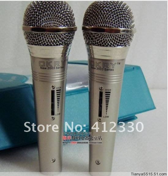Free shipping 2012   Household karaoke speech cable computer microphone microphone adjustable volume of a couple