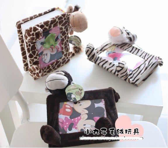 wholesale toys Warm display rack NICI plush toy jungle album frames creative gift 7 inch free shipping