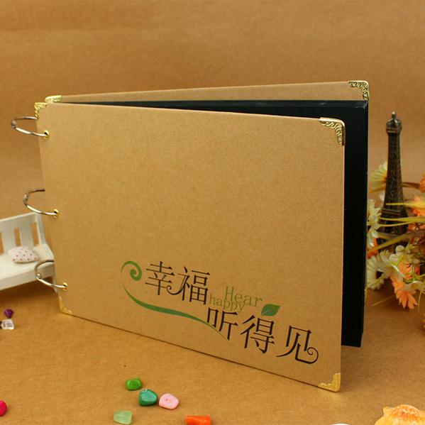 Diy handmade photo album paste type photo album gift with thin photo album book 1