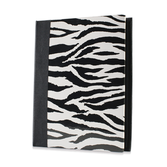 Free shipping 6 100 limited edition vintage fashion photo album with thin photo album zebra print black pp Emboss