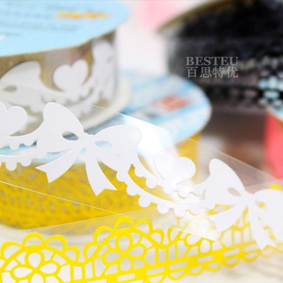 free shipping Besteu lace cutout laciness tape handmade diy photo album book lovers paste type photo album