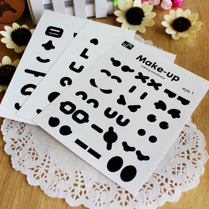 Diy paste type photo album expression stickers switch stickers wall stickers t0217